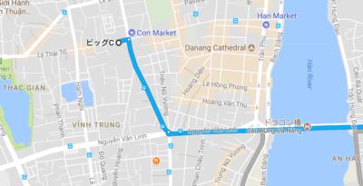 BIGCまでの地図