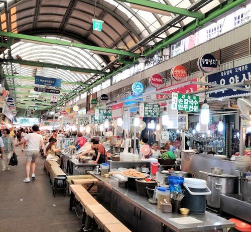 広蔵市場(クァンジャンシジャン)屋台