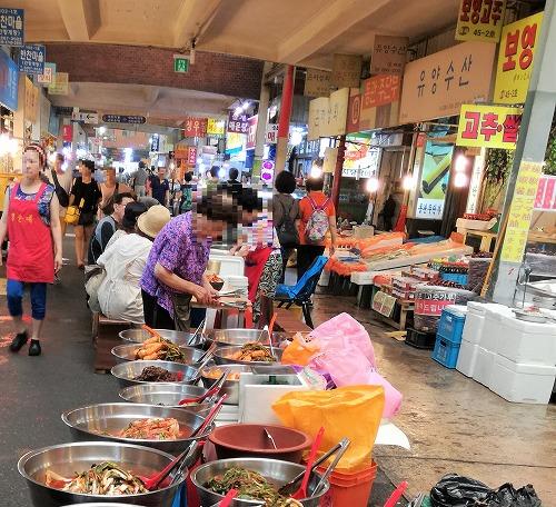 広蔵市場(クァンジャンシジャン)キムチ売り場