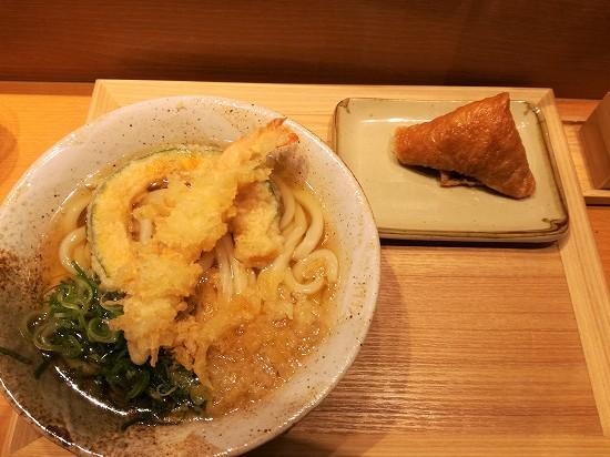 ふたばセット(天ぷらといなり)