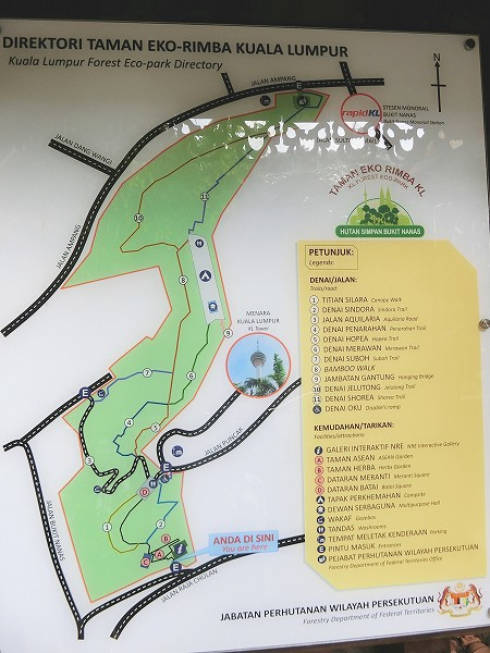 キャノピーウォーク地図
