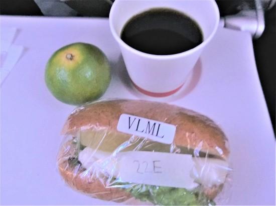 往路軽食ベジタリアンミールサンドイッチ
