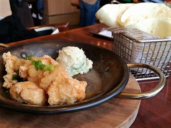 こがね鶏の竜田揚げおろしポン酢