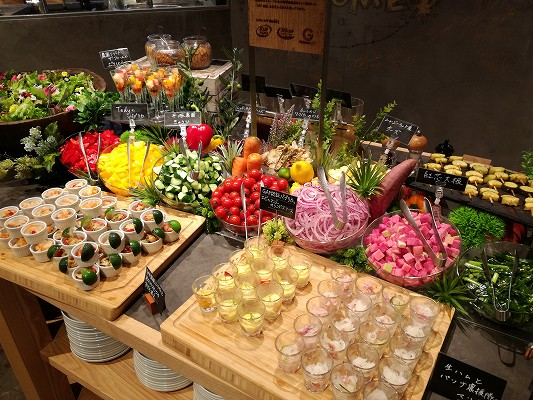 グランイート銀座野菜のビュッフェ