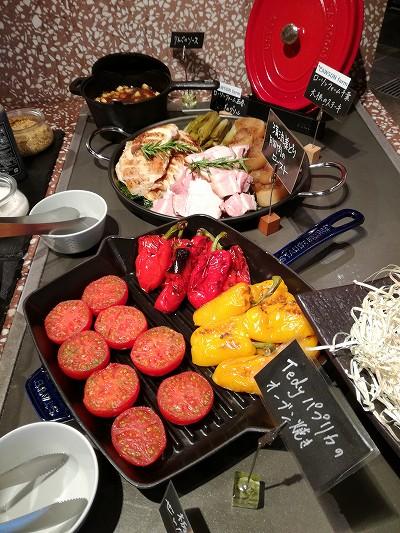 野菜と肉のグリル