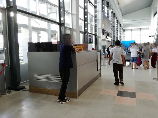 ビエンチャン空港タクシーカウンター
