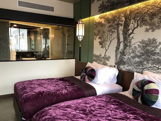 ラオポエットホテル ツインベッド部屋