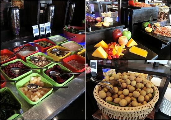 ノボテルバンコクプルンチットスクンビット 朝食 サラダ、ハム、チーズ