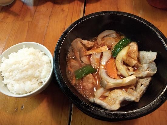 三好苑 川崎 ランチ 石焼豚生姜焼き