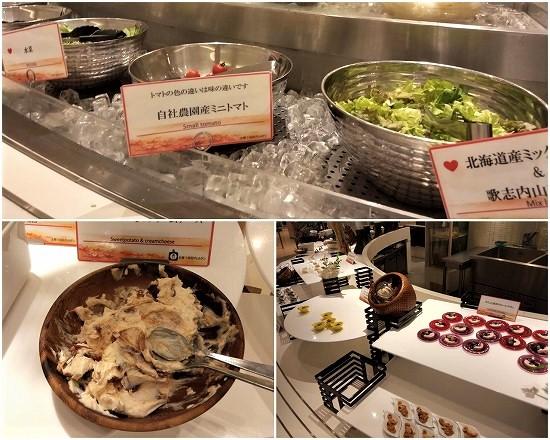 緑の風ビュッフェ夕食サラダと冷惣菜
