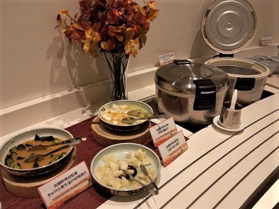緑の風ビュッフェ夕食 和食