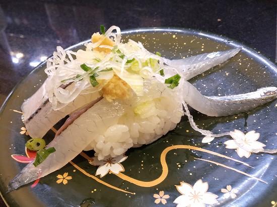 回転寿司 美登利 蒲田 太刀魚