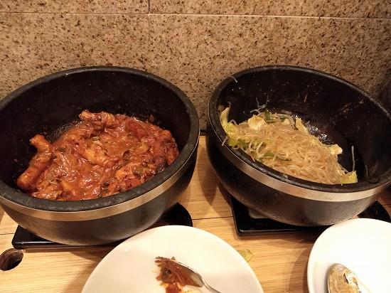 焼肉トラジ京橋店ランチ チャプチェとトッポギ