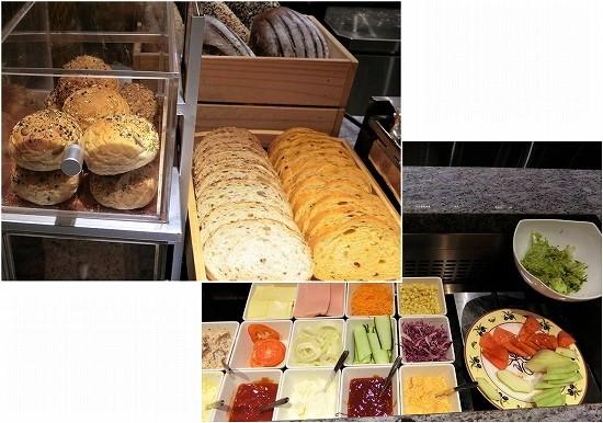 klia2 プラザプレミアムラウンジ ランドサイト1 サンドイッチ