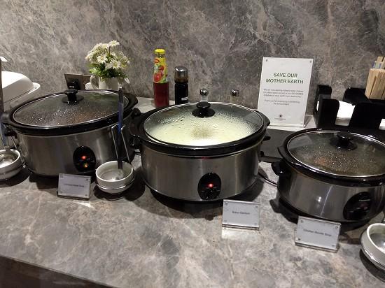 klia2 プラザプレミアムラウンジ ランドサイト2 スープ