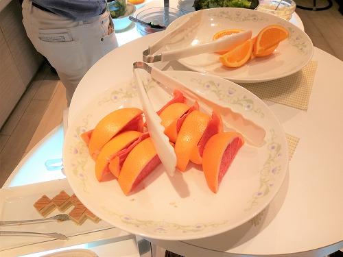 オレンジとピンクグレープフルーツ