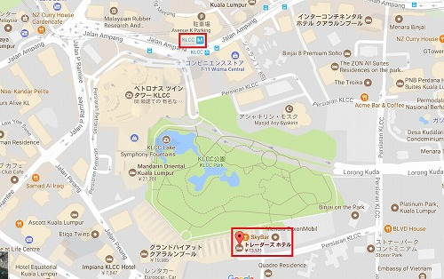 トレーダーズホテルクアラルンプール地図