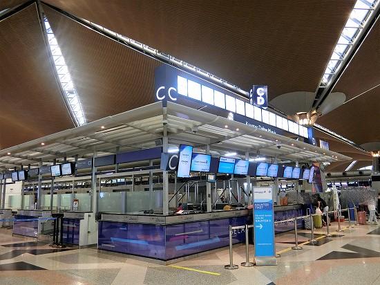 クアラルンプール国際空港Cカウンター