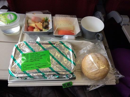 マレーシア航空機内食ベジタリアン