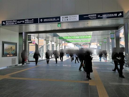 川崎駅北改札ラゾーナ川崎