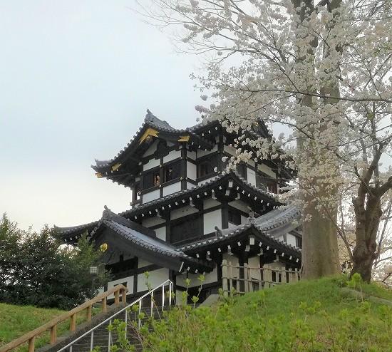 高田城桜まつりお城