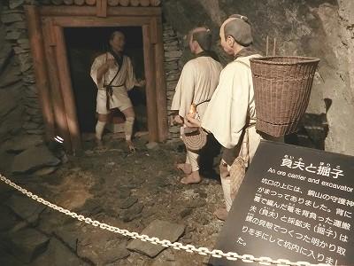 江戸時代の採掘の様子
