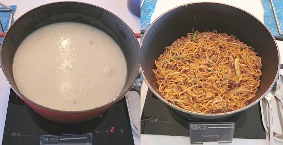 スープと焼きそば