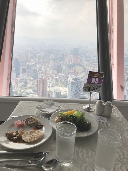 食事と景色