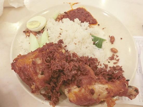 Nasi Lemak Ayam Goreng(ナシレマアヤムゴレン)