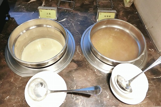 豆漿(トウジャン)と味噌汁