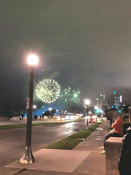 ナイアガラの滝の花火