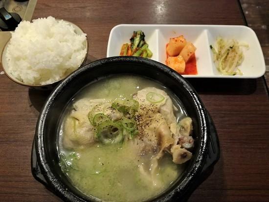 半参鶏湯定食800円