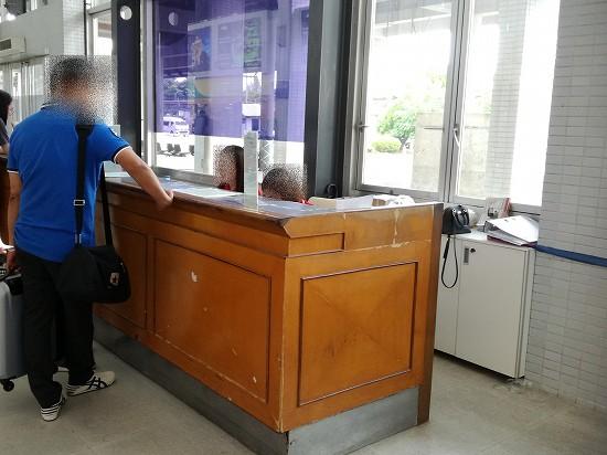 ビエンチャン空港simカウンター