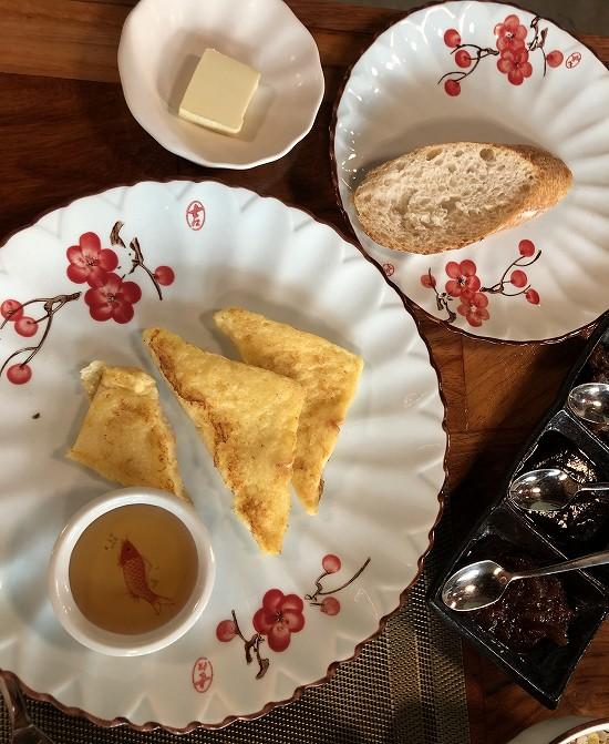ラオ ポエットホテル 朝食 フレンチトースト
