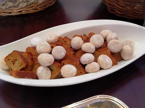 ルミアモーレ ブルードネージュとバナナケーキ