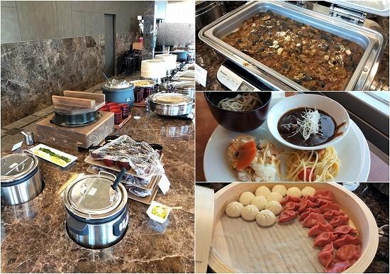 アパホテル横浜ベイタワー ランチビュッフェ ご飯や麺