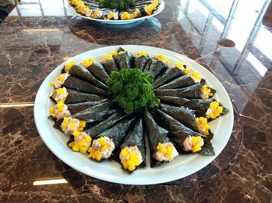 アパホテル横浜ベイタワー ランチビュッフェ タイムサービス手巻き寿司