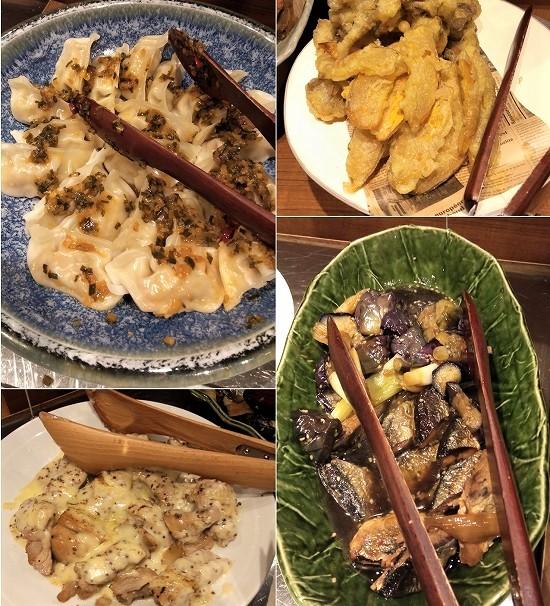 ハレの食卓 川崎(水餃子・天ぷら・秋刀魚・チキンのグリル)