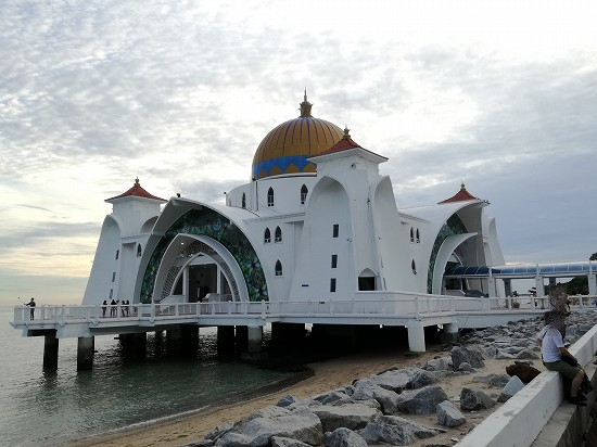 マラッカ水上モスク 桟橋