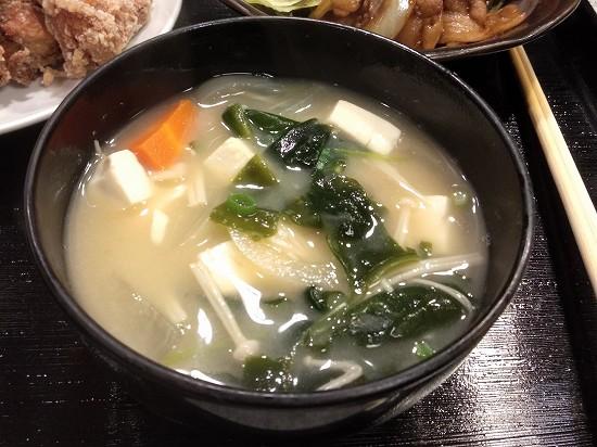 やまお川崎 ランチ 味噌汁
