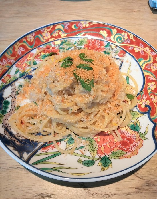 RISTORANTE & BAR E'VOLTA(リストランテ アンド バー エボルタ)ランチ からすみのスパゲッティ