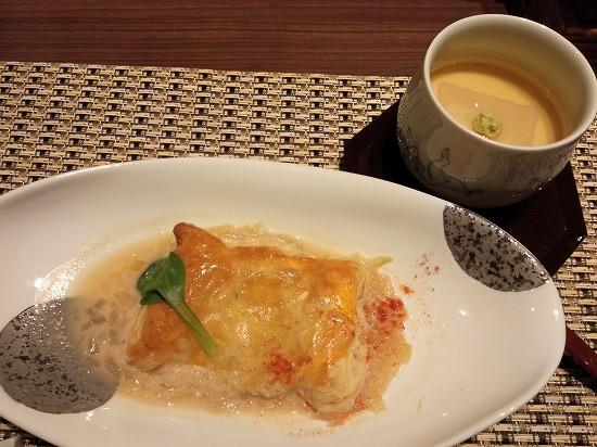 箱根パークス吉野 夕食 鰈パイ包み焼き