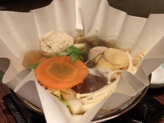 箱根パークス吉野 夕食 鶏つみれ鍋