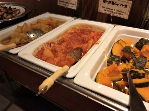 箱根パークス吉野 朝食 温かいおかず