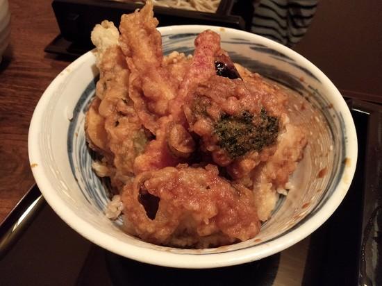 川崎手打ちそば たか 野菜八種天丼