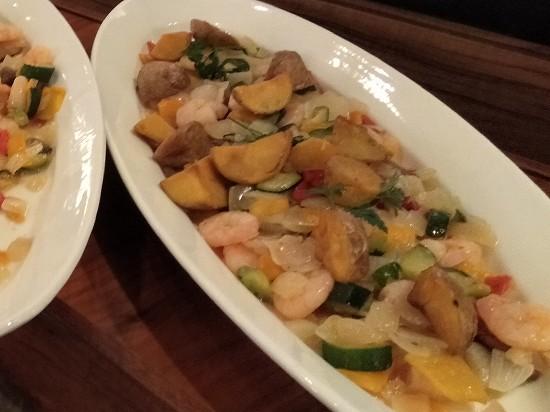 インカのめざめと野菜のガーリックシュリンプ ガーデンレストラン オールデイ ダイニング ランチビュッフェ