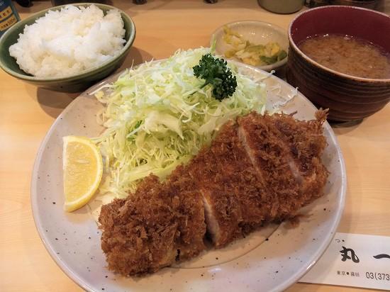 ロースかつ定食 丸一 蒲田