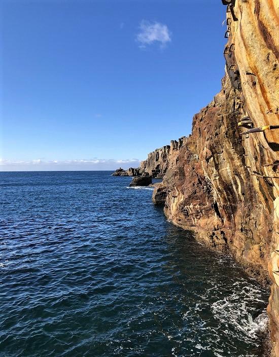 三段壁 断崖絶壁
