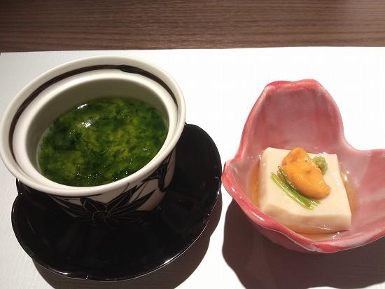 先付と蒸し物 日本料理 熱海 凜