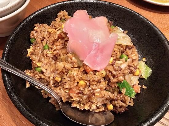 特製黒醤油の挽肉炒飯 阿里城JR川崎タワー
